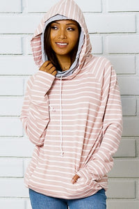 Blush White Double Hoodie