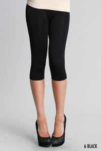 Plus Black Capri Legging