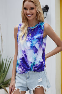 Purple Twist Tie Tank