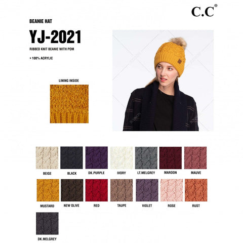 C.C Twisted Knit Beanie