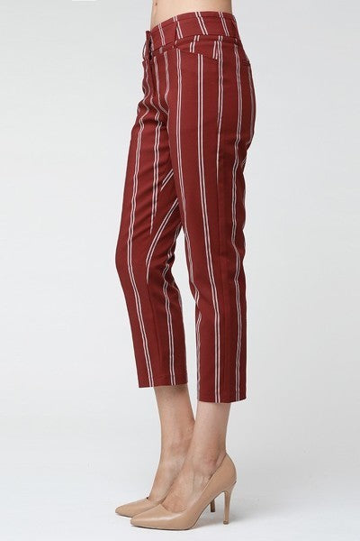 Burgundy Stripe Pants