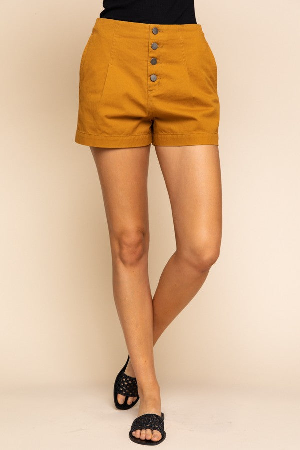 Camel High Waisted Shorts