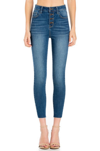 Medium Denim High Rise Skinny Jean