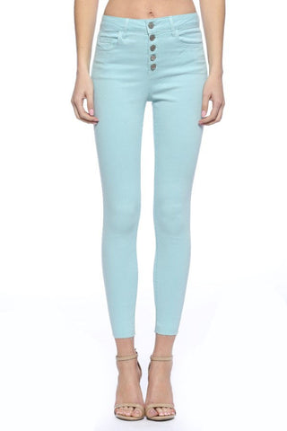 Mint High Rise Skinny Jean