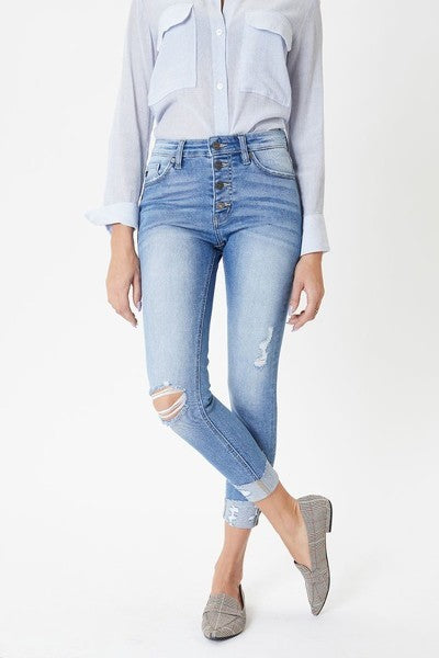KanCan Light Denim Ankle Skinny
