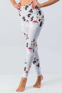 Light Grey Floral Workout Pant