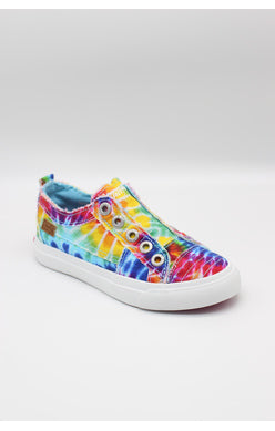 Blowfish Rainbow Tie Dye Canvas Tennis Shoe