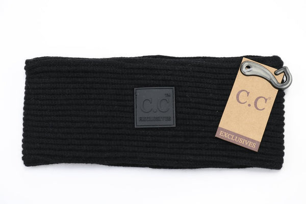 Solid Ribbed C.C. Head Wrap