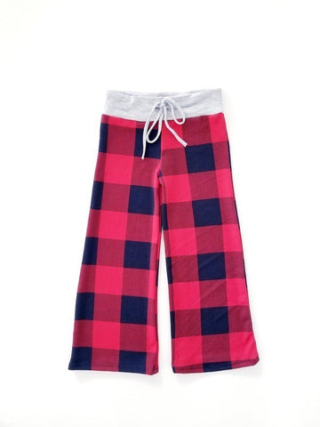 Toddler Plaid Print Drawstring Pants