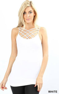 White Triple Criss-Cross Cami
