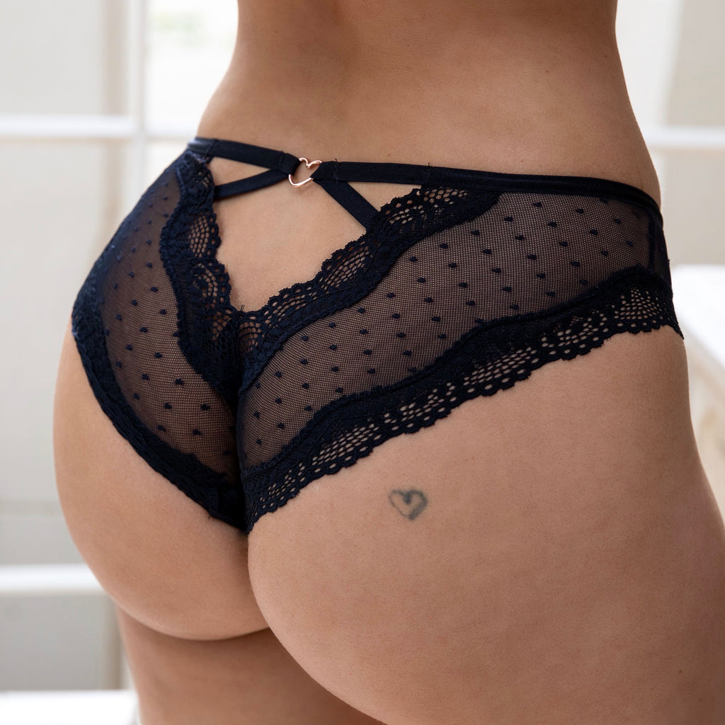 CHEEKY AT HEART FULL BRIEF - BLACK