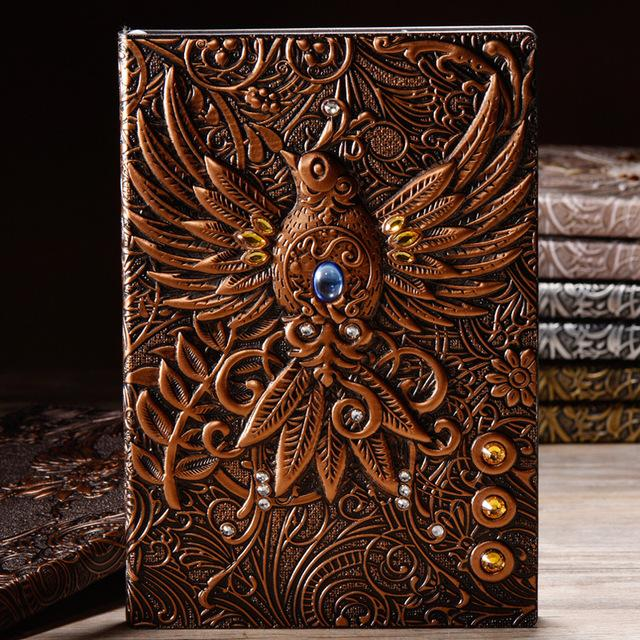 Vintage Embossed Leather Notebook