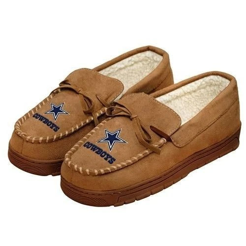 NFL MENS OFFICIALLY LICENSED MOCCASIN SLIPPERS - PICK YOUR TEAM (PREORDER - SHIPS MID OCTOBER)