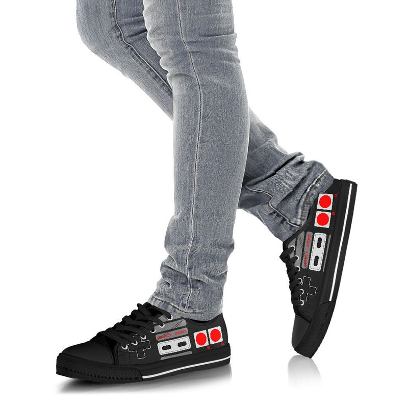 LOVE GAME BLACK LOW TOP SHOES