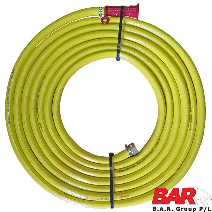 20mm 3/4 Bush Fire Hose - Heavy Duty 20m-Hose Kit-SES Direct Ltd