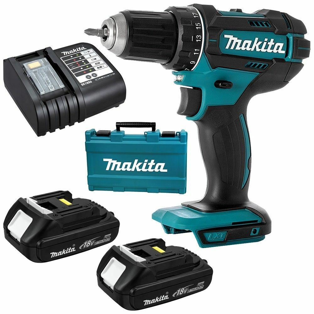 Makita DDF482SYE 18V LXT Drill Driver 1.5Ah Kit-Cordless Drills-SES Direct Ltd
