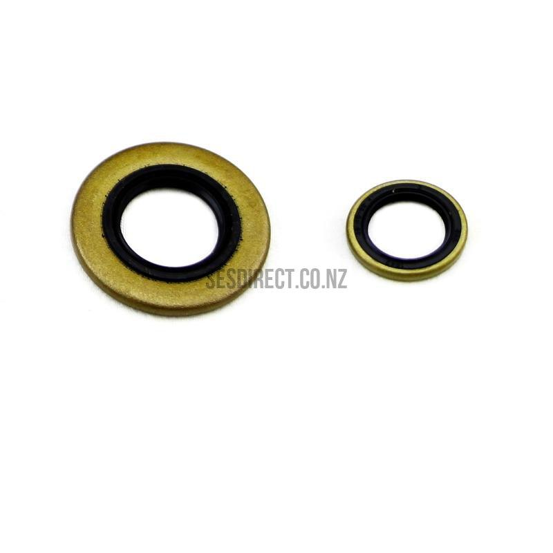 Oil Seal Set 15x22x4 for Stihl MS660, MS650, 066 Replaces 9640-003-1850 (Aftermarket)-Oil Seals-SES Direct Ltd