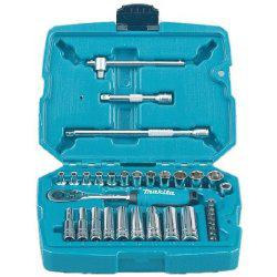 "Makita Ratchet & Socket set 34pcs 1/4"" Drive-Socket Set-SES Direct Ltd"