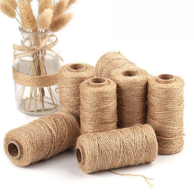 10M Natural Jute Twine Burlap String Hemp Rope Party Wedding Decoration Florists Easter