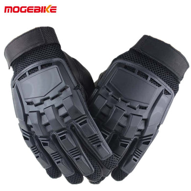 1 Pair Motorcycle Gloves Men Full Finger Leather Spring Summer Outdoor Sport Racing Travelling Wearable Tactical Guantes