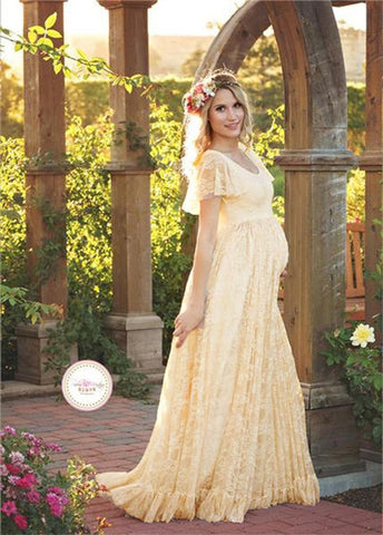 Maternity Photography Props Lace Dresses
