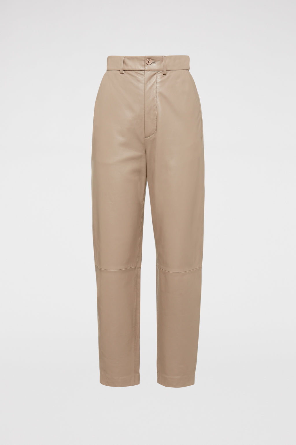 LEATHER HIGH WAIST TROUSER