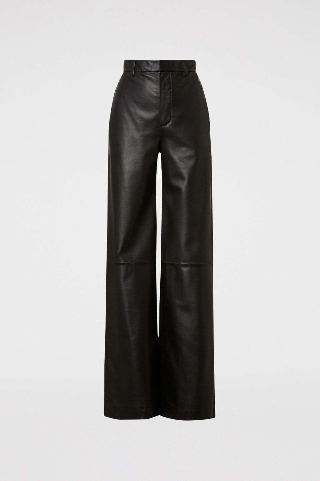 LEATHER WIDE LEG TROUSER
