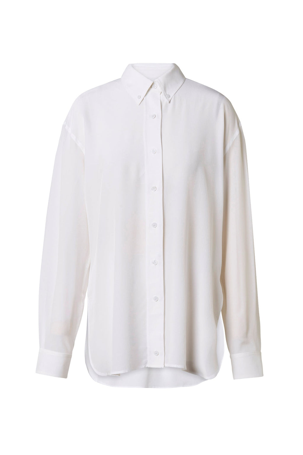SILK BUTTON COLLAR SHIRT