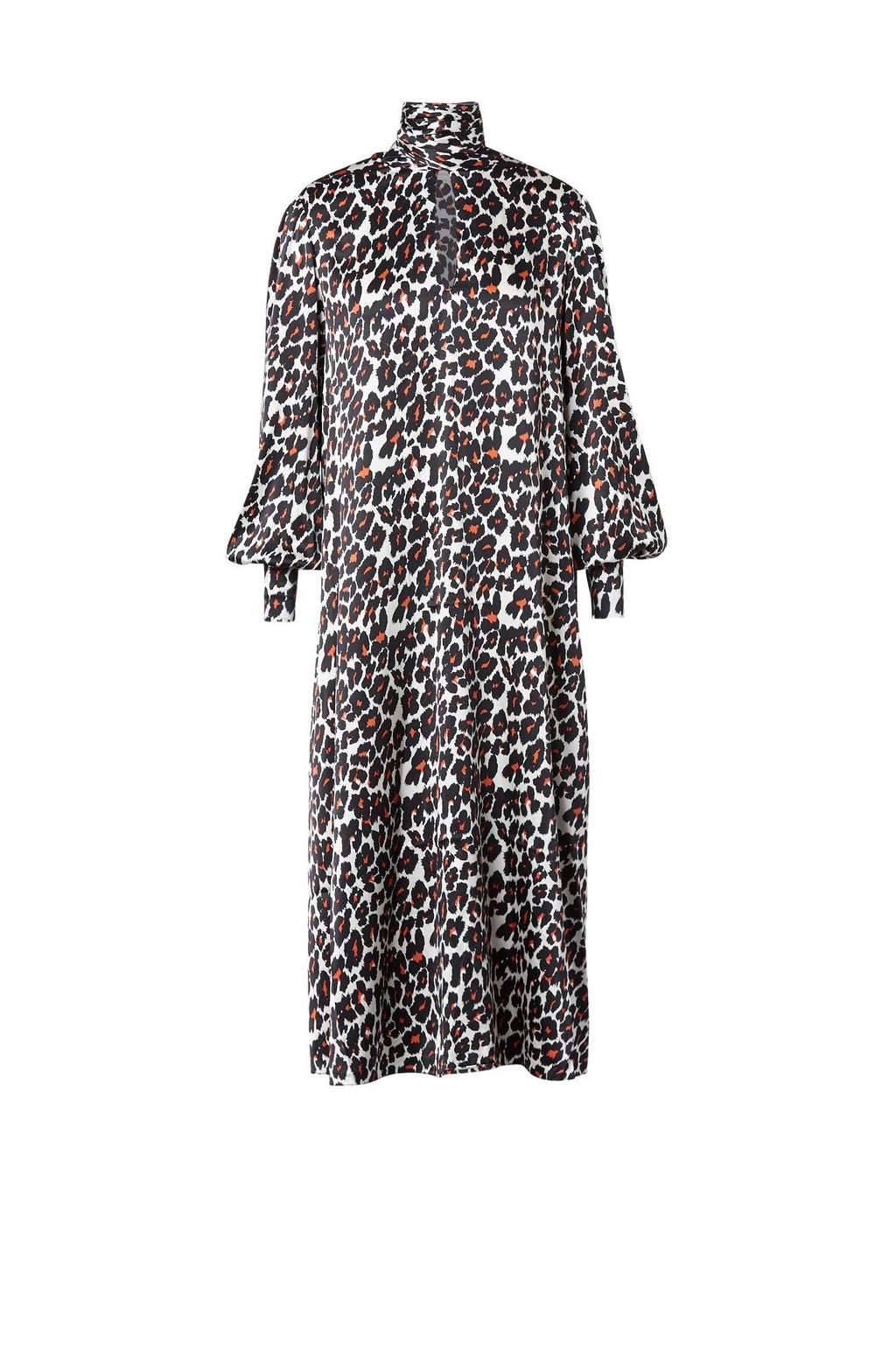 SILK LEOPARD PRINT DRESS