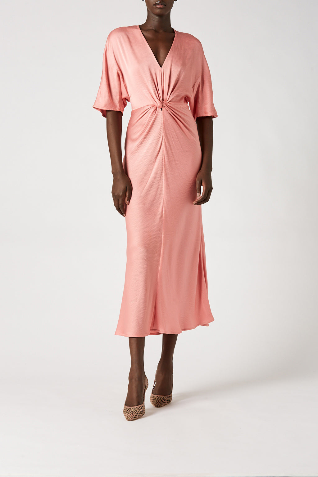 COCOON TURBAN TWIST DRESS
