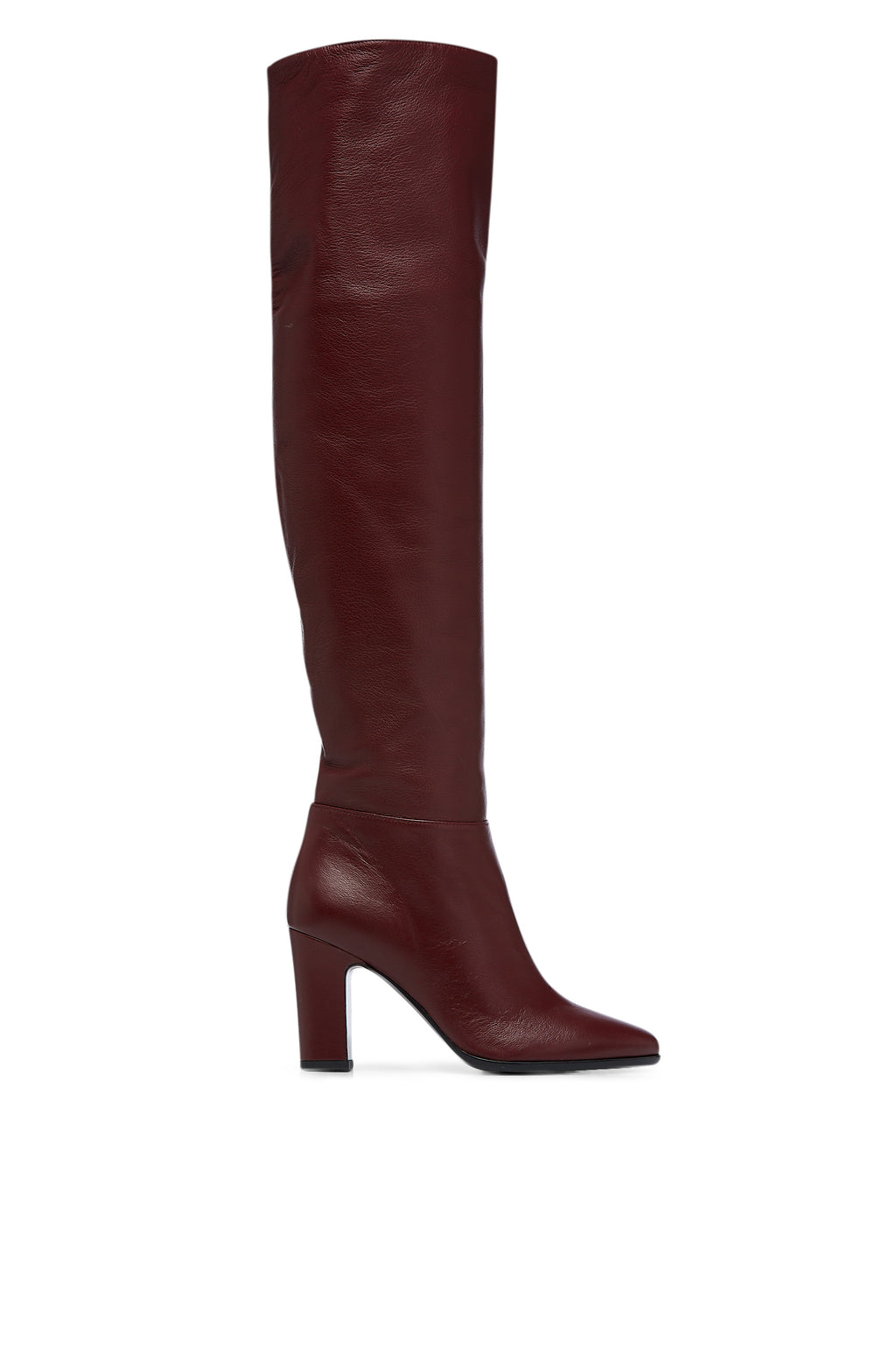 LEATHER KNEE HIGH BOOT 8.5
