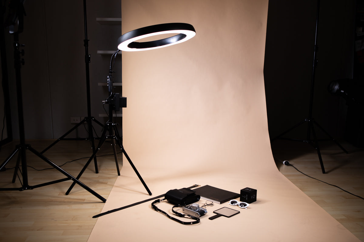 ring lights for flat lay setup