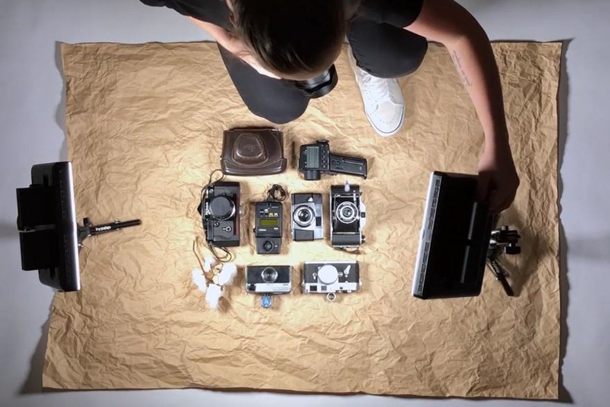 lighting for flat lay photographs