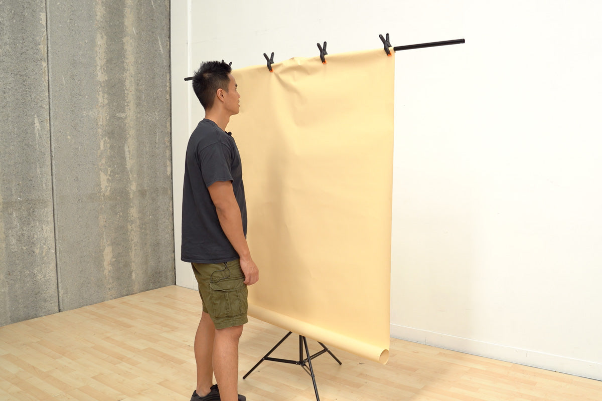 T-Stand Backdrop Stand with Clamps (90cm x 200cm)