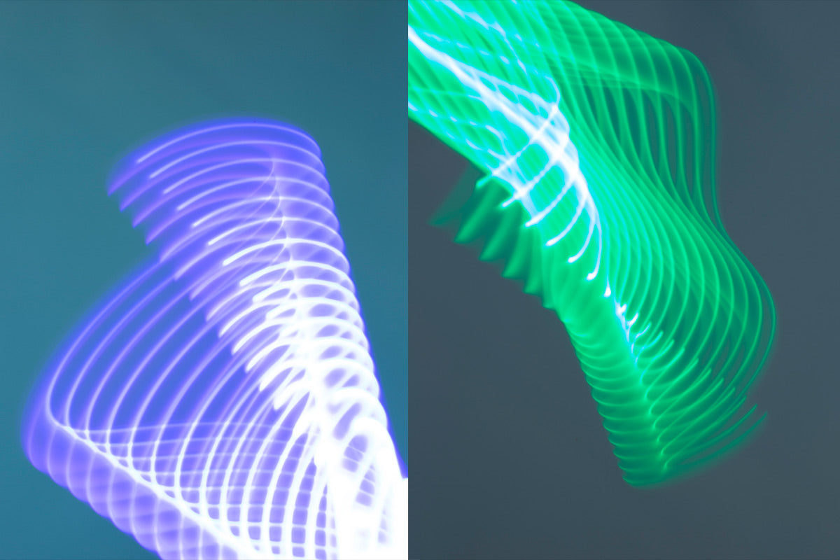 RGB light stick long exposure photography