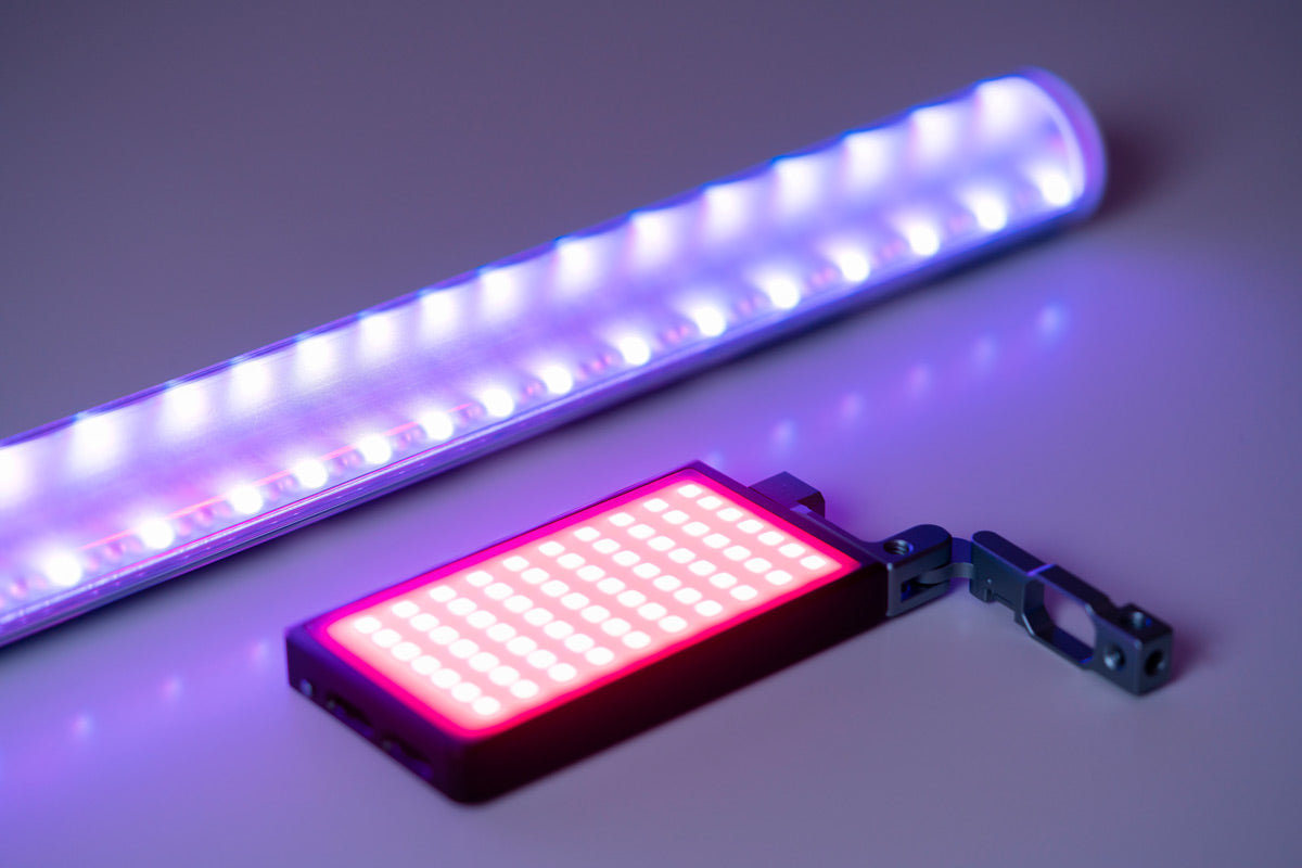 rgb light stick and rgb compact led panel