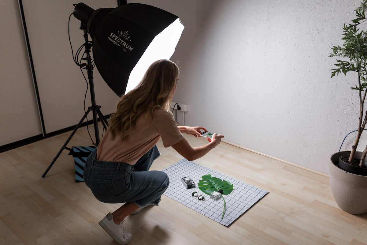 how to light flat lay photography