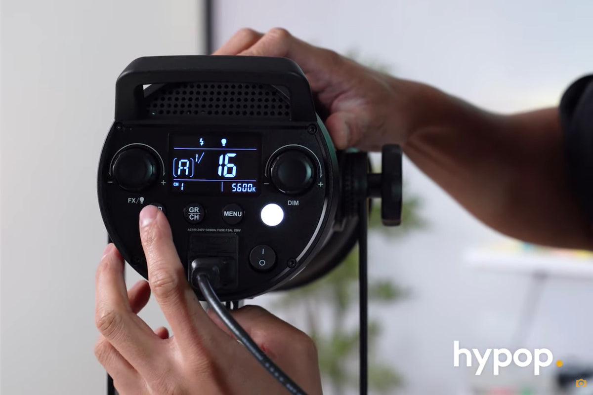 Godox FV150 Hybrid LED HSS Light continuous led settings