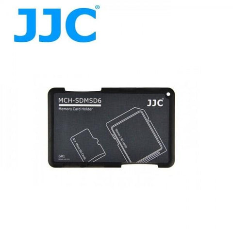 JJC MCH-SDMSD6 Memory Card Holder for 2 SD Cards + 4 Micro SD Cards exclude