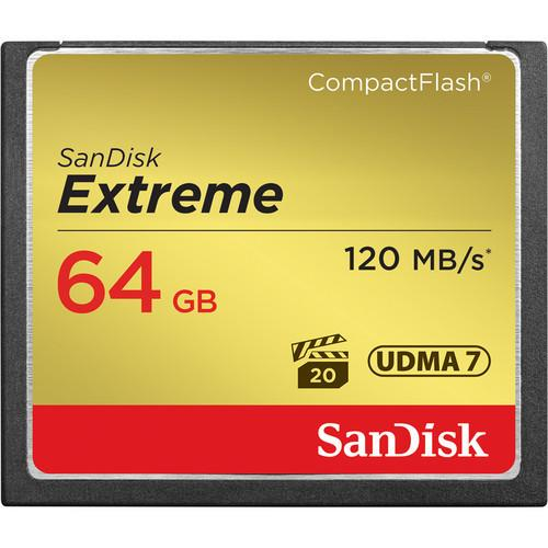 SanDisk EXTREME®COMPACT FLASH® CARDS Read 120MB/s Write Speed 800x
