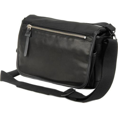 Artisan & Artist GCAM-7200 Leather Nylon Camera Bag (BLACK)