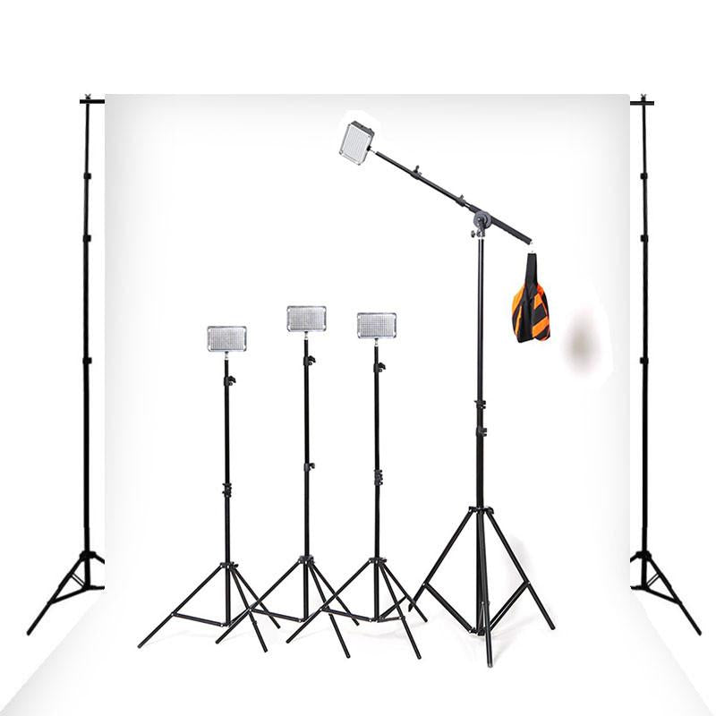 Hypop Professional LED Photo Video Continuous Portable Lighting Boom Kit & Backdrop Set (Small)