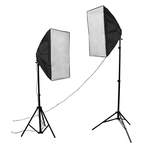 50cm x 70cm Quad Head Double Rectangle Softbox Lighting Set