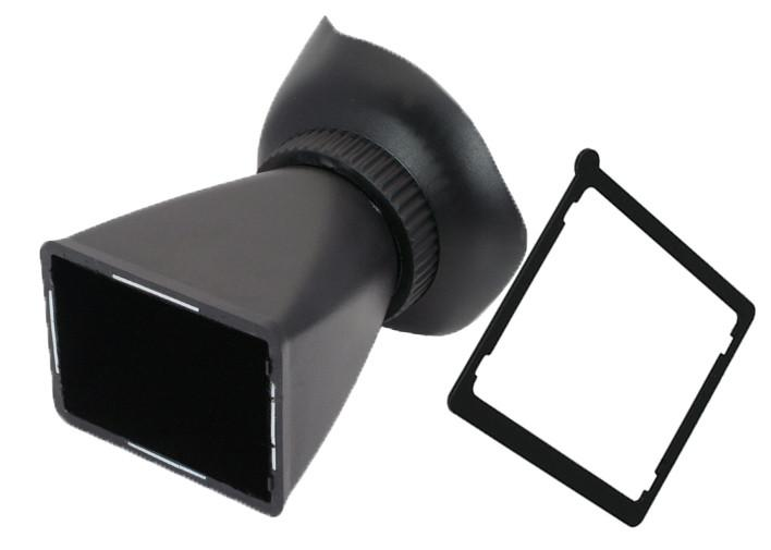 Hypop V2 LCD Viewfinder 2.8X Magnifier Extender Eyecup for Canon 5D Mark III 550D D90