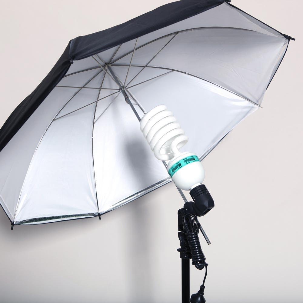 WI:  1x 2-in-1 Umbrella (Reflector and Shoot Through Diffuser)