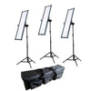 Boling 3x 2280P LED Video & Photography Continuous Portable Lighting Kit (36,000 Lumens at 1M)