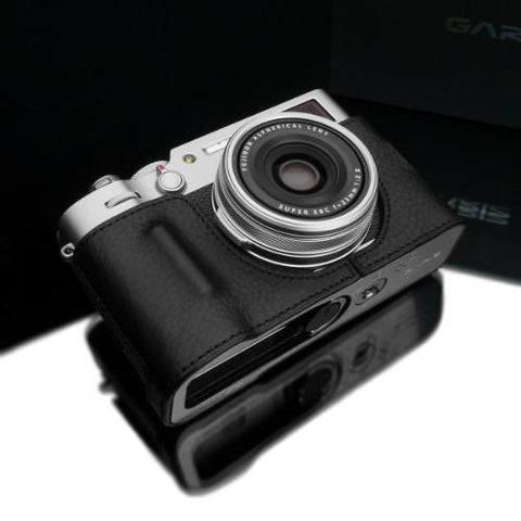 Gariz HG-X100VBK Black Leather Camera Half Case for Fujifilm X100V