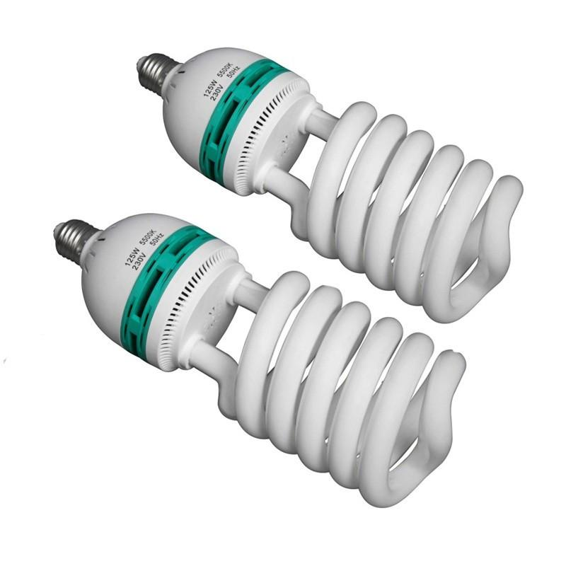 WI: 2 x 125W Studio Bulbs