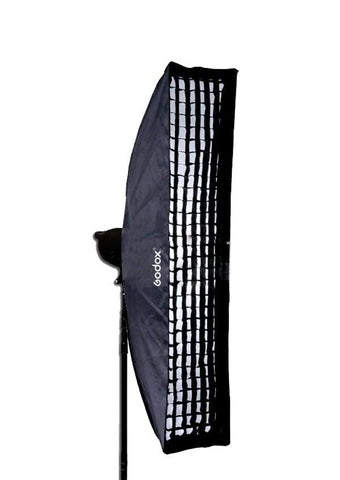 Godox 35 x 160cm Rectangular Strip Softbox with Grid for Bowens
