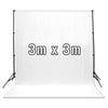 White 3m x 3m Cotton Muslin Studio Photography Video Backdrop
